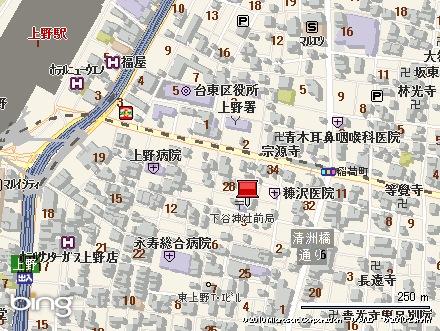 下谷神社地図