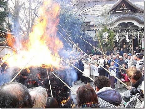 とんど焼き@鳥越神社【2011年1月8日(土)】