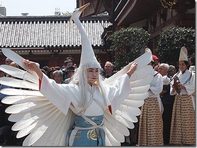 浅草秋の観光祭「白鷺の舞」奉演【平成23年11月3日(祝)】