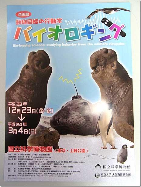 バイオロギング:科学博物館【2011/12/23~2012/3/4】