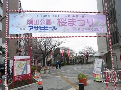 3月24日(木)肌寒い隅田公園