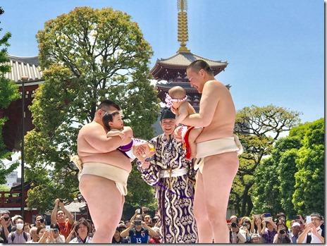 九代目市川團十郎「暫」復元記念 泣き相撲 2018年4月28日