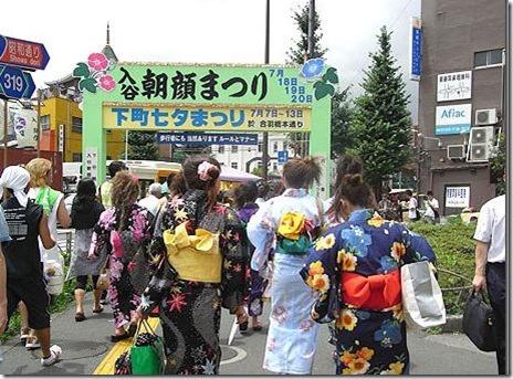 入谷 朝顔まつり 【30年7月6日~8日】