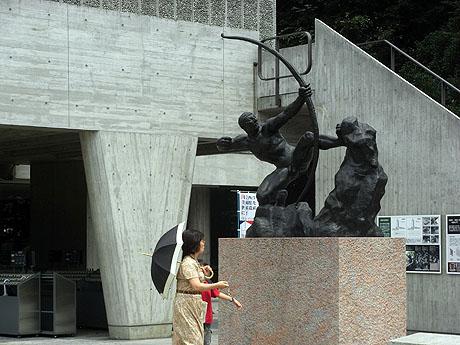 国立西洋美術館で親子で記念撮影!