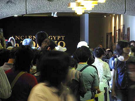 トリノ・エジプト展の入り口の様子